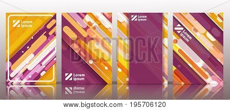 Modern vector cover design with a volume effect for your company style, brochure, promotion in print or internet