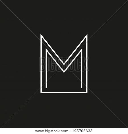 M letter icon. M monogram or emblem. Vector design element for branding.