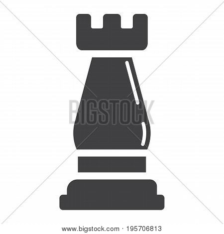 Strategic plan solid icon, business and rook chess, vector graphics, a glyph pattern on a white background, eps 10.