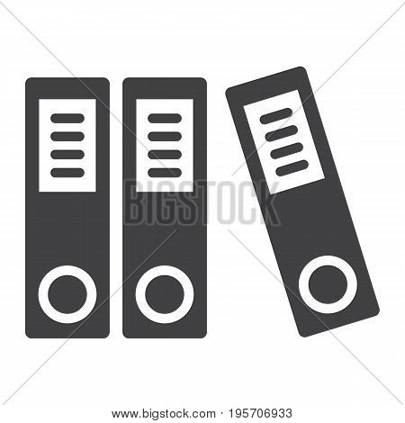 Binders solid icon, business and folder, vector graphics, a glyph pattern on a white background, eps 10.