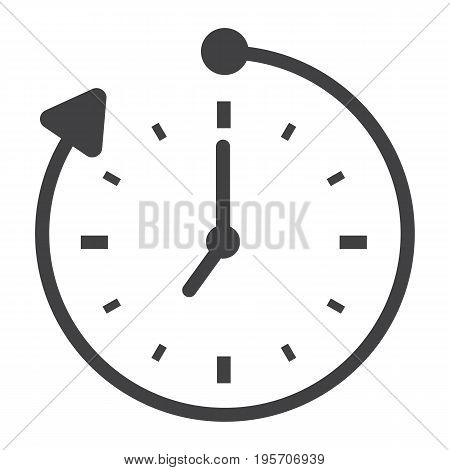 Overtime solid icon, business and clock, vector graphics, a glyph pattern on a white background, eps 10.