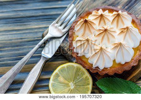 Tartlet Of Lemon Custard And Meringue.