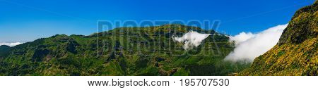View Of Mountains On The Route Encumeada - Boca De Corrida, Madeira Island, Portugal, Europe.