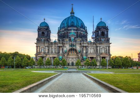 Berlin Cathedral (Berliner Dom) at sunrise, Germany