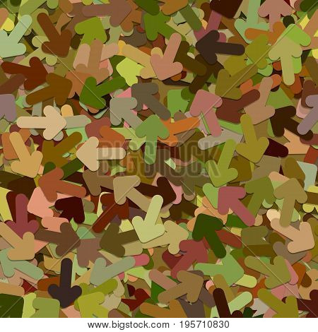 Seamless abstract random arrow background pattern - vector illustration from colorful rotated rounded arrows with shadow effect