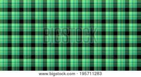 Sea Green Seamless Scottish Tartan Background Texture
