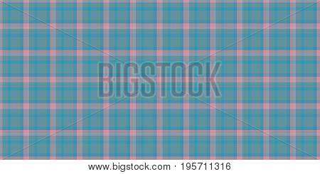 Aqua Rose Seamless Scottish Tartan Background Texture