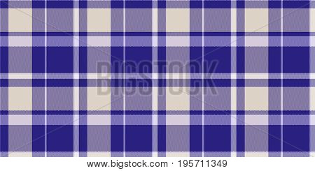 Beige Blue Seamless Scottish Tartan Background Texture