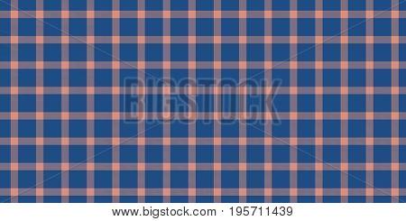 Coral Blue Seamless Scottish Tartan Background Texture