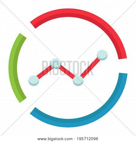 Market analysis flat icon, business and diagram, vector graphics, a colorful solid pattern on a white background, eps 10.