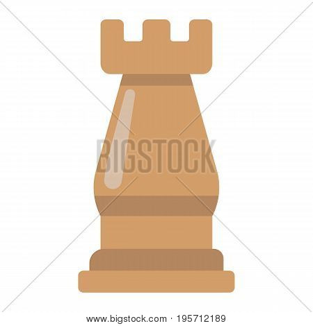 Strategic plan flat icon, business and rook chess, vector graphics, a colorful solid pattern on a white background, eps 10.
