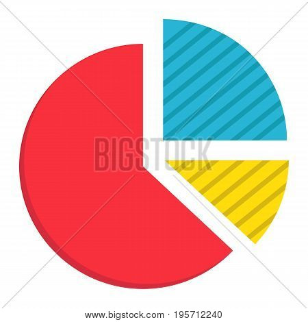 Pie Chart flat icon, business and diagram, vector graphics, a colorful solid pattern on a white background, eps 10.