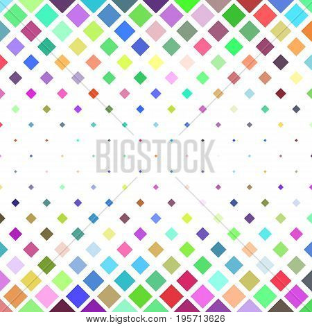 Square pattern background - geometrical vector illustration from diagonal squares in colorful tones