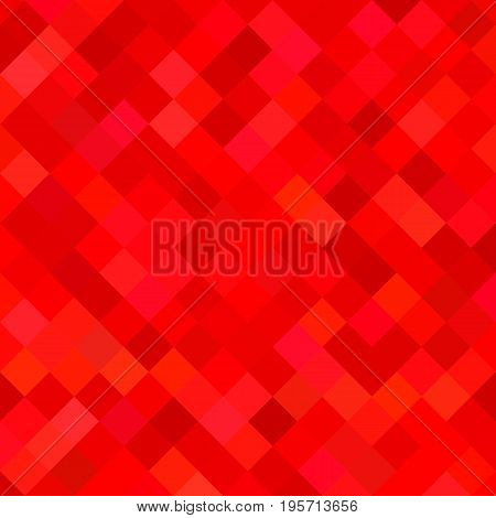 Colored abstract square pattern background - geometric vector illustration from diagonal squares in red tones