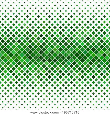 Color diagonal square pattern background - geometric vector illustration from green squares