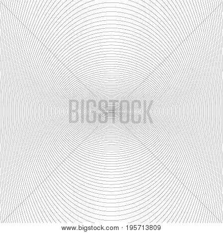 Symmetrical abstract monochrome line pattern background design - vector graphic from black stripes on white