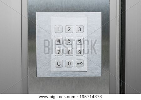 Number Pad On Door - Number Keypad Closeup