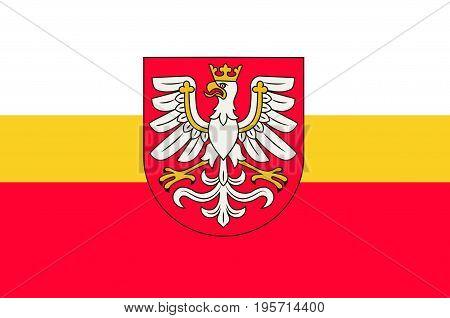 Flag of Lesser Poland Voivodeship or Malopolska Province in southern Poland. Vector illustration