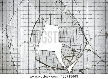 Reinforced Broken Glass Cutout Background