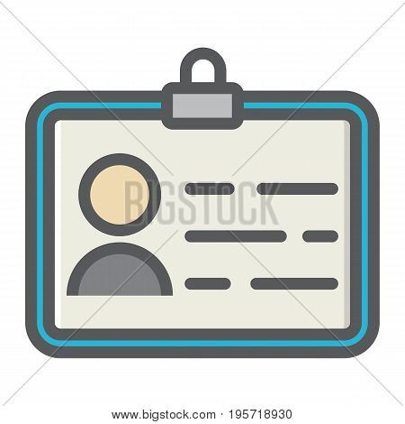 Identity colorful line icon, id and identification, vector graphics, a filled pattern on a white background, eps 10.