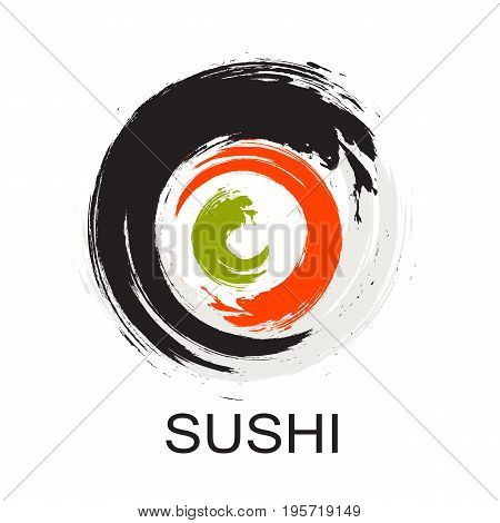 Sushi Icon. Traditional Japanese Food. Vector Illustration EPS10