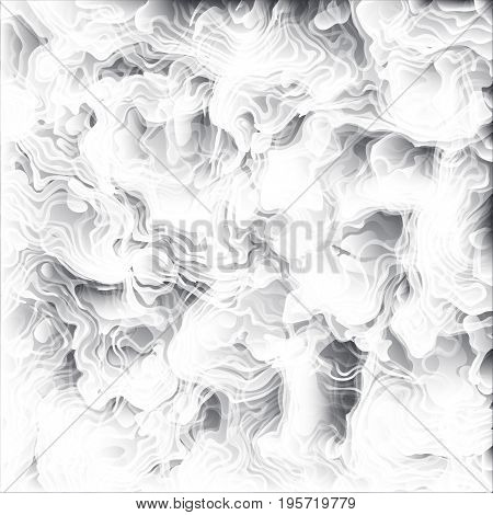 Clouds undulatus asperatus vector background. Thick choking smoke backdrop. Clouds of ash and steam from an erupting volcano texture illustration.