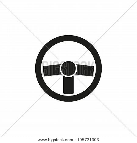 Simple icon of helm. Steering wheel, driving, automobile. Auto concept. Can be used for topics like transportation, cars, travel