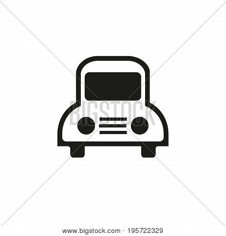 Simple icon of school bus. Bus station, car, taxi. School concept. Can be used for topics like transportation, vehicle, auto