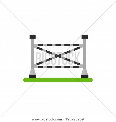 Icon of equesrtrian barrier. Obstacle, training. Horse riding concept. Can be used for topics like competition, sport, dressage