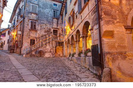 View of the town lodge in Groznjan Istria. Croatia