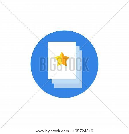 Icon of printed flyer. Document, leaflet, brochure. Advertisement concept. Can be used for topics like commercial, service, information