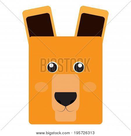 Isolated face of an alpaca, Vector illustration