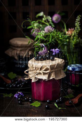 Homemade Black Currant Curd (jam)