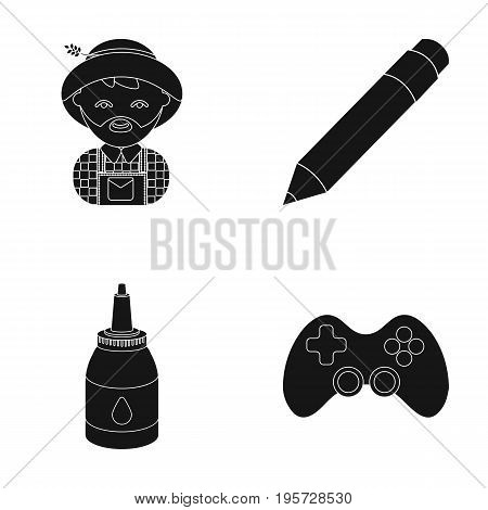 equipment, entertainment, tourism and other  icon in black style.game, management, facilities, icons in set collection
