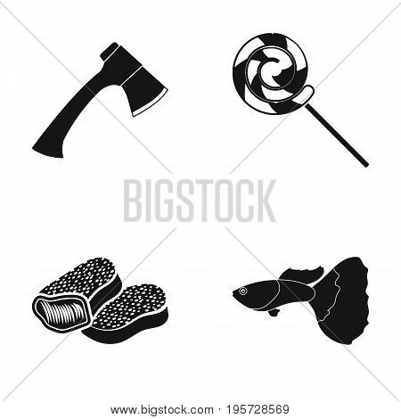nature, leisure, hobbies and other  icon in black style.ocean, water, aquarium icons in set collection.