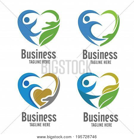 care and charity logo, Elegant logo concept care and charity vector.