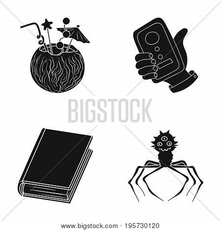 diseases, prevention, hygiene and other  icon in black style.microbes, dirt, infection icons in set collection.
