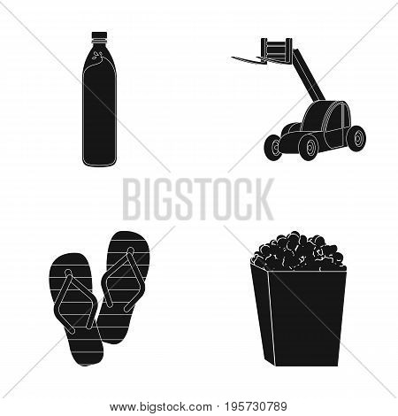 export, ecology, industry and other  icon in black style.garbage, waste, piling, icons in set collection