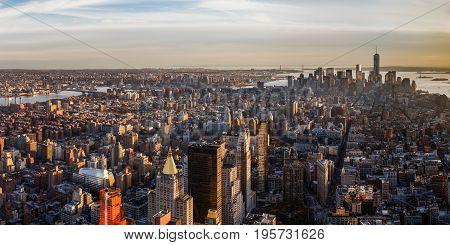 Manhattan Panoramic, New York City - Manhattan