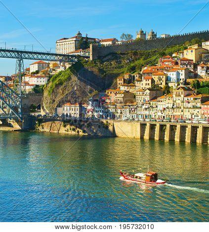 Douro River In Porto, Portugal