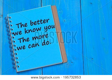 The better we know you. The more we can do text on notebook page