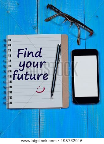Find your future words on notebook page