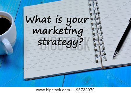 What is your marketing strategy question on notebook page