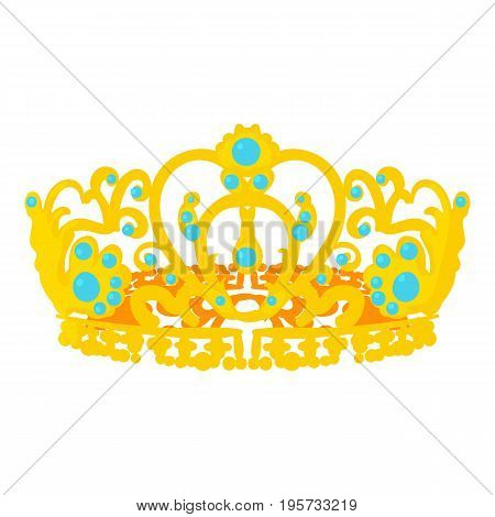 Crown of the Queen icon. Cartoon illustration of crown of the Queen vector icon for web