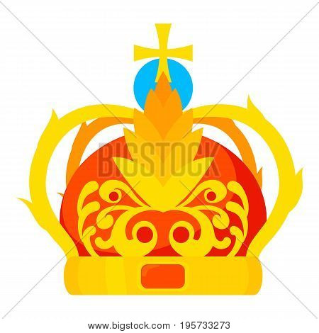 Crown icon. Cartoon illustration of crown vector icon for web