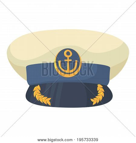 Officer cap icon. Cartoon illustration of officer cap vector icon for web