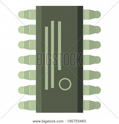 Microcircuit icon. Cartoon illustration of microcircuit vector icon for web