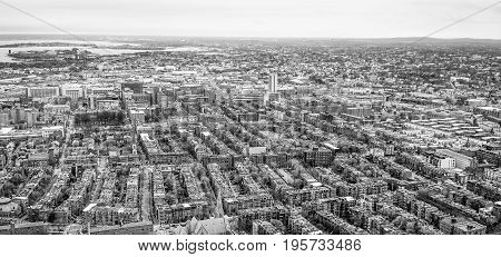 The City of Boston - aerial view - BOSTON - MASSACHUSETTS