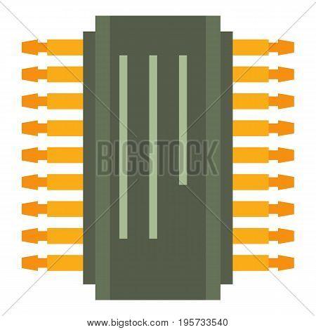 Transistor icon. Cartoon illustration of transistor vector icon for web