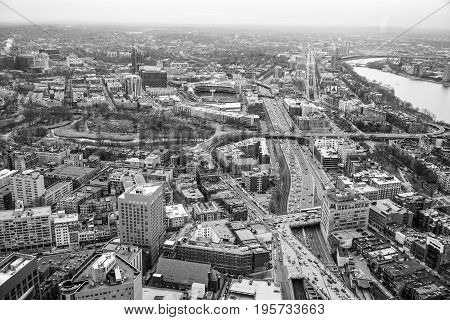 Aerial view over the city of Boston - BOSTON - MASSACHUSETTS
